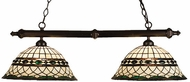 Meyda Tiffany 18840 Roman 2 Light Tiffany Kitchen Island Ceiling Light