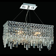 Elegant 2035D20C-RC Maxim 4-lamp Mini Crystal Kitchen Island Lighting