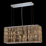 Elegant 2018D32C-GT-RC Maxim 32  Medium Golden Teak Crystal Island Light Fixture