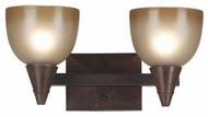 Kenroy Home 92111DO Kyoto 2-Lamp Contemporary Vanity Light
