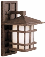 Kichler 9129AGZ Cross Creek 13.5 Inch Outdoor Wall Lantern
