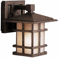 Kichler 9128AGZ Cross Creek 8.5 Inch Outdoor Wall Lantern