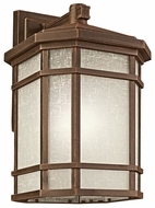 Kichler 9721PR Cameron Craftsman 20 Inch Tall Outdoor Light Sconce - Prairie Rock Finish