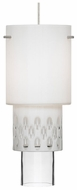 LBL HS596OOC Mini-White Zinnia Modern Mini Pendant Light Ceiling Fixture