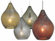 LBL HS688 Relic No. 1 Accented Glass 7  Tall Modern Miniature Pendant Light Fixture