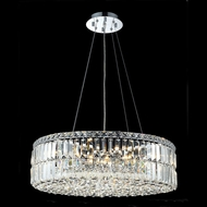 Elegant 2030D24C-RC Maxim 24  Medium Crystal Pendant Drum Light