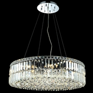 Elegant 2030D28C-RC Maxim Large 28  Crystal Drum Pendant Light