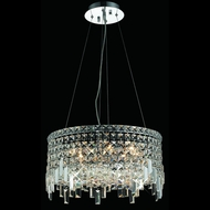 Elegant 2031D20C-RC Maxim 20  Crystal Drum Pendant Light