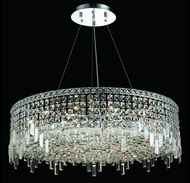Elegant 2031D32C-RC Maxim Extra Large 18-light Chrome Crystal Hanging Pendant Lighting