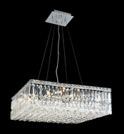 Elegant 2032D24C-RC Maxim Medium 24  Square Crystal Hanging Pendant Lamp