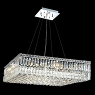 Elegant 2032D28C-RC Maxim 28  Large Crystal Square Glass Pendant Light