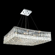 Elegant 2032D32C-RC Maxim Extra Large 32  Square Crystal Lighting Pendant