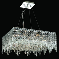 Elegant 2033D24C-RC Maxim 12-light 24  Medium Crystal Square Pendant Lamp