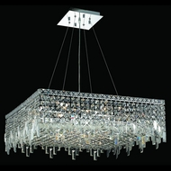 Elegant 2033D28C-RC Maxim 28  Large Square Crystal Pendant Light Fixture