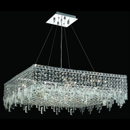 Elegant 2033D32C-RC Maxim Extra Large 32  Square Crystal Lighting Pendant