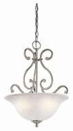 Kichler 43227NI Camerena Brushed Nickel 18 Inch Diameter Inverted Pendant Light Fixture