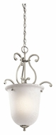 Kichler 43228NI Camerena Small 15 Inch Diameter Brushed Nickel Traditional Lighting Pendant
