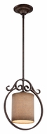Quoizel CLS1512OZ Carlsbad Old Bronze Finish 12 Inch Diameter Traditional Mini Pendant