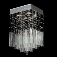 Worldwide W33261C12-CL Torrent Square Clear Crystal 12 Inch Diameter Ceiling Light