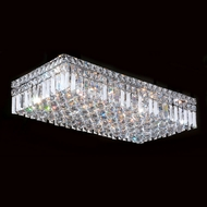 Worldwide W33530C24 Cascade 5 Inch Tall 6 Lamp Crystal Flush Light Fixture