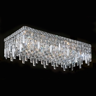 Worldwide W33630C24 Cascade Crystal Flush Mount 7 Inch Tall Overhead Light