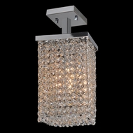 Worldwide W33732C6 Prism 6 Inch Wide Chrome Finish Ceiling Light Fixture - Small