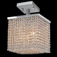 Worldwide W33733C10 Prism Crystal 10 Inch Wide Crystal Semi Flush Lighting - Medium