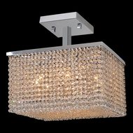 Worldwide W33734C16 Prism 16 Inch Wide 9 Lamp Crystal Ceiling Lighting - Large
