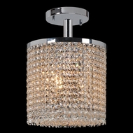 Worldwide W33744C10 Prism Medium Crystal 10 Inch Diameter Semi Flush Mount Lighting