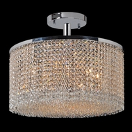 Worldwide W33746C20 Prism Extra Large Semi Flush 20 Inch Diameter Ceiling Light