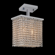 Worldwide W33753C10 Prism Small 10 Inch Wide Chrome Crystal Ceiling Lamp