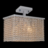 Worldwide W33754C16 Prism Medium Crystal 16 Inch Wide Overhead Lighting