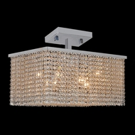 Worldwide W33755C20 Prism Large Semi Flush Mount 20 Inch Diameter Ceiling Light