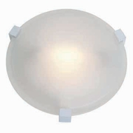Access 50060-WH Cirrus White 8 Inch Diameter Small Ceiling Light Fixture