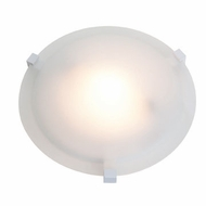 Access 50061-WH-FST Cirrus Flush Mount 12 Inch Diameter White Frosted Glass Overhead Light