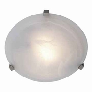 Access 50062-SAT-ALB Cirrus Alabaster Glass 12 Inch Diameter Medium Flush Lighting