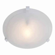 Access 50062-WH-ALB Cirrus Medium White Finish 12 Inch Diameter Alabaster Glass Ceiling Lamp