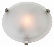Access 50063-SAT-FST Cirrus Large 16 Inch Diameter Satin Finish Ceiling Lighting - Frosted Glass