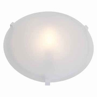 Access 50063-WH-FST Cirrus Large Frosted Glass White Finish Flush Mount Lighting