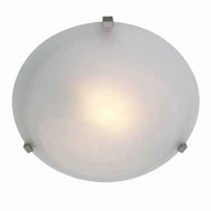 Access 50064-SAT-ALB Cirrus Flush Mount Large Satin Finish Ceiling Light Fixture - Alabaster