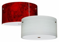 Besa 1KM-4008 Tamburo 16 Flush Mount 7 Inch Tall Overhead Light Fixture