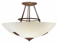 Meyda Tiffany 113275 Essence 2 Lamp Alabaester Bowl Semi Flush Lighting
