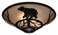 Meyda Tiffany 113405 Happy Bear On The Loose Silver Mica 22 Inch Diameter Flush Lighting