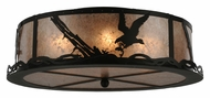 Meyda Tiffany 113623 Strike Of The Eagle Flush Mount 22 Inch Diameter Rustic Overhead Lighting