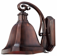 Quoizel WLD8508BD Welland Medium Burnished Copper Outdoor Wall Lighting Fixture