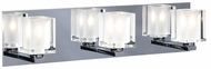 PLC 3483 Glacier 3 Light Polished Chrome Contemporary Vanity Light