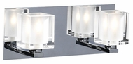 PLC 3482 Glacier 2 Light Contemporary Halogen Vanity Light in Polished Chrome