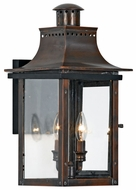 Quoizel CM8410AC Chalmers Traditional Medium 10 Inch Diameter Copper Lantern Wall Light Sconce