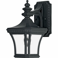 Quoizel DE8407K Devon Small Black 12 Inch Tall Outdoor Traditional Lantern Wall Sconce