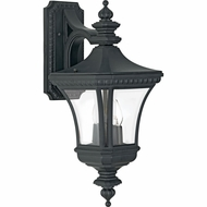 Quoizel DE8409K Devon Traditional Medium 21 Inch Tall Black Exterior Wall Lamp